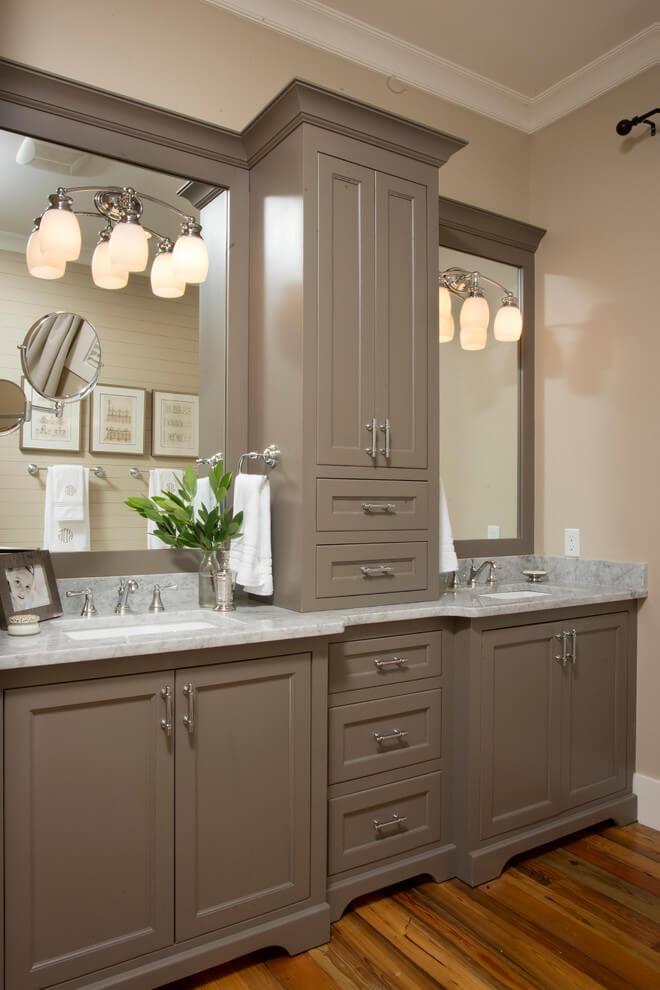Detailed Bathroom Vanity With Storage