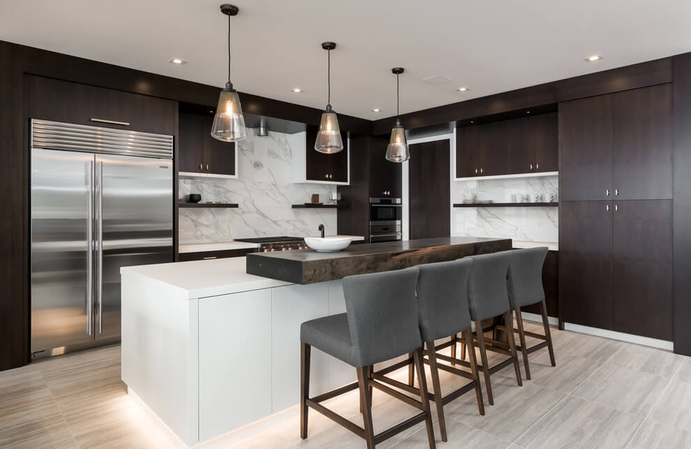 Layering Lights In Kitchen